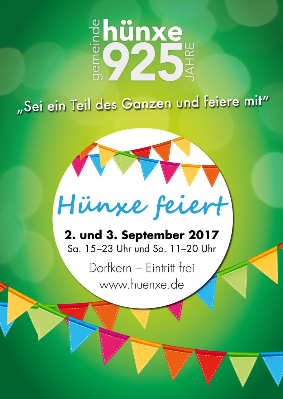 925 Jahre Hünxe - das Programmheft-1